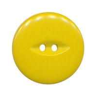 Knoop geel met 2 gaten 25 mm (ca. 25 stuks)
