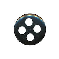 Knoop zwart met 4 grote gaten 19 mm (ca. 25 stuks)