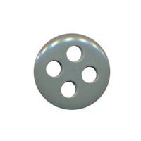 Knoop grijs met 4 grote gaten 19 mm (ca. 25 stuks)