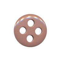 Knoop lever met 4 grote gaten 19 mm (ca. 25 stuks)