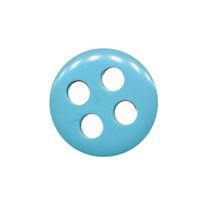 Knoop licht blauw met 4 grote gaten 19 mm (ca. 25 stuks)