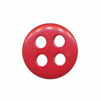 Knoop rood met 4 grote gaten 19 mm (ca. 25 stuks)