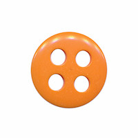Knoop oranje met 4 grote gaten 19 mm (ca. 25 stuks)