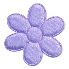 Applicatie bloem lila satijn effen groot 45 mm (ca. 100 stuks)