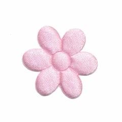 Applicatie bloem roze satijn effen middel 30 mm (ca. 25 stuks)