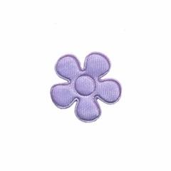 Applicatie bloem lila satijn effen klein 20 mm (ca. 25 stuks)