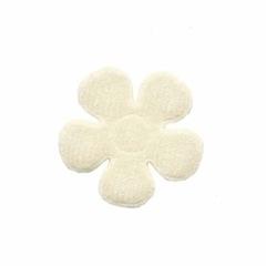 Applicatie bloem creme vilt middel 30 mm (ca. 100 stuks)