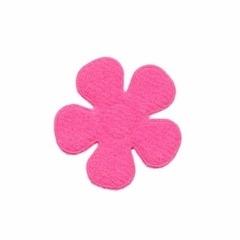 Applicatie bloem fuchsia vilt middel 30 mm (ca. 100 stuks)