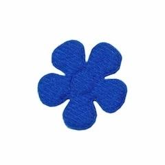 Applicatie bloem kobalt blauw vilt middel 30 mm (ca. 100 stuks)