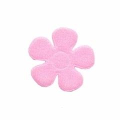 Applicatie bloem roze vilt middel 30 mm (ca. 100 stuks)