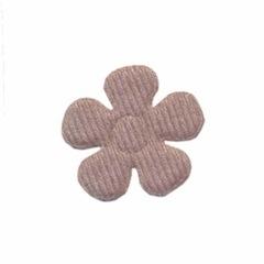 Applicatie bloem grijs vilt middel 30 mm (ca. 100 stuks)