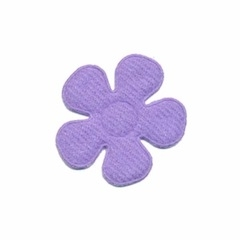 Applicatie bloem lila vilt middel 30 mm (ca. 100 stuks)