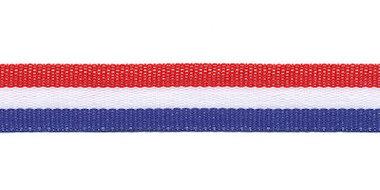 Rood-wit-blauw 'Nederlandse vlag' grosgrain/ribsband 15 mm (ca. 25 m)