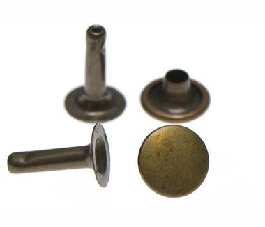 Holniet bronskleurig staal 9 mm - lange pin (ca. 1000 sets)