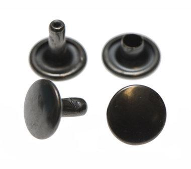Holniet oud zilverkleurig staal 9 mm met dubbele kop (ca. 1000 sets)
