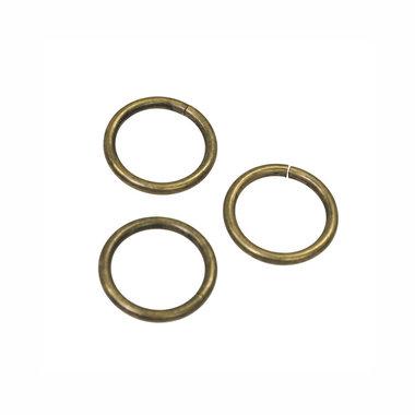 Metalen O-ring bronskleurig ZWAAR 20 mm (ca. 25 stuks)