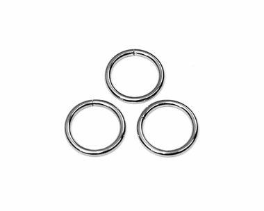 Metalen O-ring zilverkleurig ZWAAR 20 mm (ca. 25 stuks)