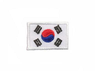 Opstrijkbare applicatie vlag Zuid Korea S (5 stuks)