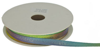 Multicolor keperband regenboog-metallic 10 mm (ca. 25 m)
