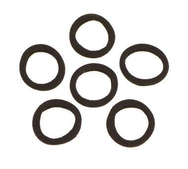 Haarelastiek endless zwart 3 cm (ca. 100 stuks)