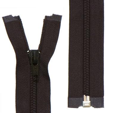 Deelbare nylon rits 5 mm zwart (#580) 75 cm (12 stuks)