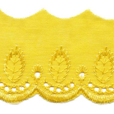 Broderie citroen geel 50 mm (ca. 13,5 m)