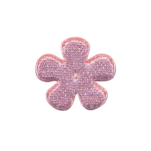 Applicatie bloem oud roze fluweel klein 25 mm (ca. 100 stuks)