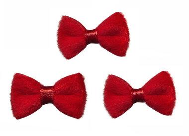 Strik fluweel rood (10 stuks)