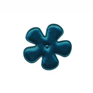 Applicatie bloem donker petrol satijn effen klein 25 mm (ca. 100 stuks)