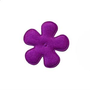 Applicatie bloem paars satijn effen klein 25 mm (ca. 100 stuks)