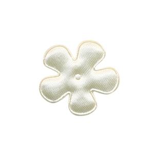 Applicatie bloem creme satijn effen klein 25 mm (ca. 100 stuks)