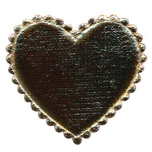 Applicatie hart goud groot 45 x 45 mm (ca. 100 stuks)