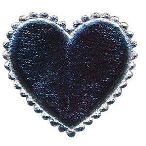 Applicatie hart zilver groot 45 x 45 mm (ca. 100 stuks)