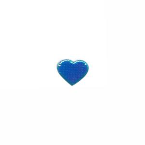 Applicatie glim hart blauw mini 12x10 mm (ca. 100 stuks)