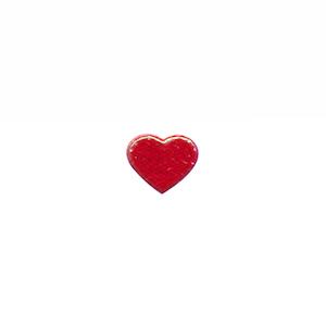 Applicatie glim hart rood mini 12x10 mm (ca. 100 stuks)