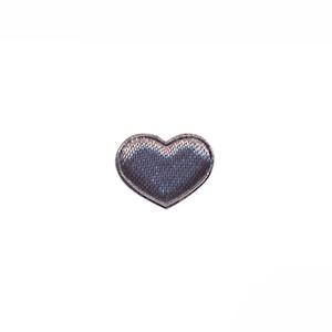 Applicatie hart grijs satijn effen mini 15x12 mm (ca. 100 stuks)