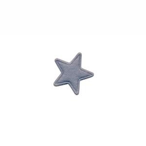 Applicatie ster vilt grijs mini 15 mm (ca. 100 stuks)