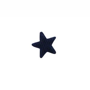 Applicatie ster vilt donker blauw mini 15 mm (ca. 100 stuks)