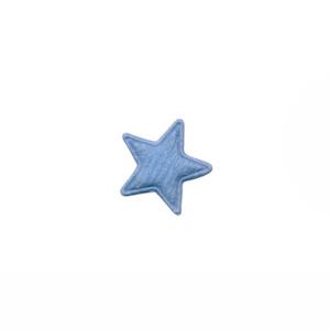 Applicatie ster vilt licht blauw mini 15 mm (ca. 100 stuks)