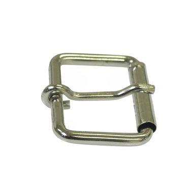 Metalen riem gesp zilverkleurig 38 mm met 1 pin (5 stuks)