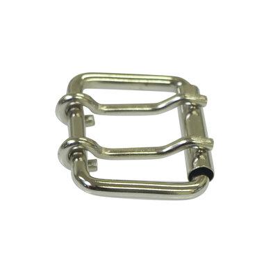 Metalen riem gesp zilverkleurig 38 mm met 2 pinnen (5 stuks)