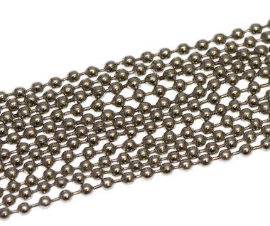 Bal ketting zilverkleurig 2,4 mm ca. 100 meter