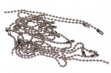 Bal ketting zilverkleurig 2,4 mm ca. 10 cm (ca. 100 stuks)