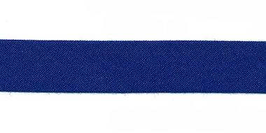 Kobalt blauw biaisband 13 mm (ca. 10 meter)