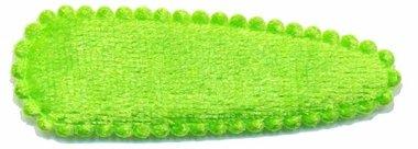Haarkniphoesje fluweel gifgroen 5 cm (ca. 100 stuks)