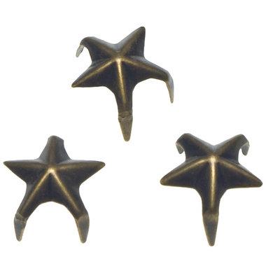 Stervormige stud bronskleurig 12 mm (ca. 100 stuks)