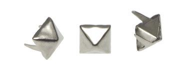 Vierkante stud piramide zilverkleurig 9 mm (ca. 100 stuks)