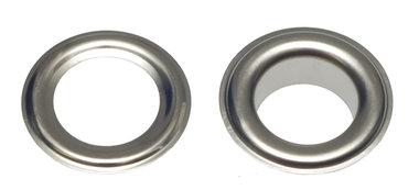 Nestels 14 mm (maat #28) vernikkeld staal (ca. 50 sets)