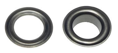 Nestels 14 mm (maat #28) oud zilverkleurig staal (ca. 50 sets)