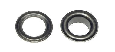 Nestels 10 mm (maat #25) oud zilverkleurig staal (ca. 50 sets)